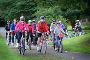 Cyclists get pedalling for charity